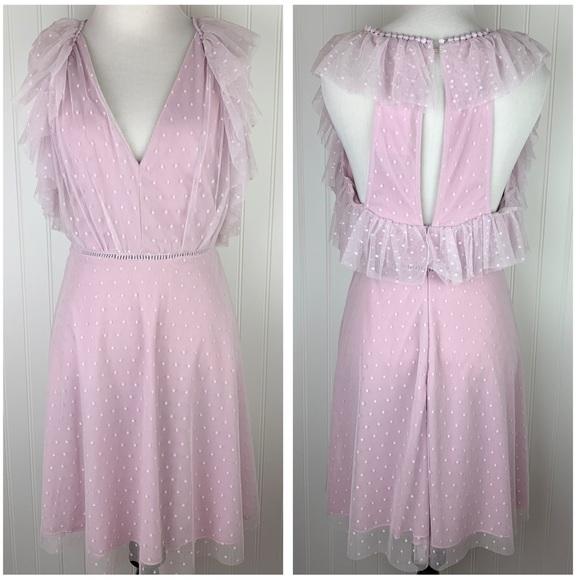 Gianni Bini Dresses & Skirts - Gianni Bini lilac lavender polka dot tulle dress